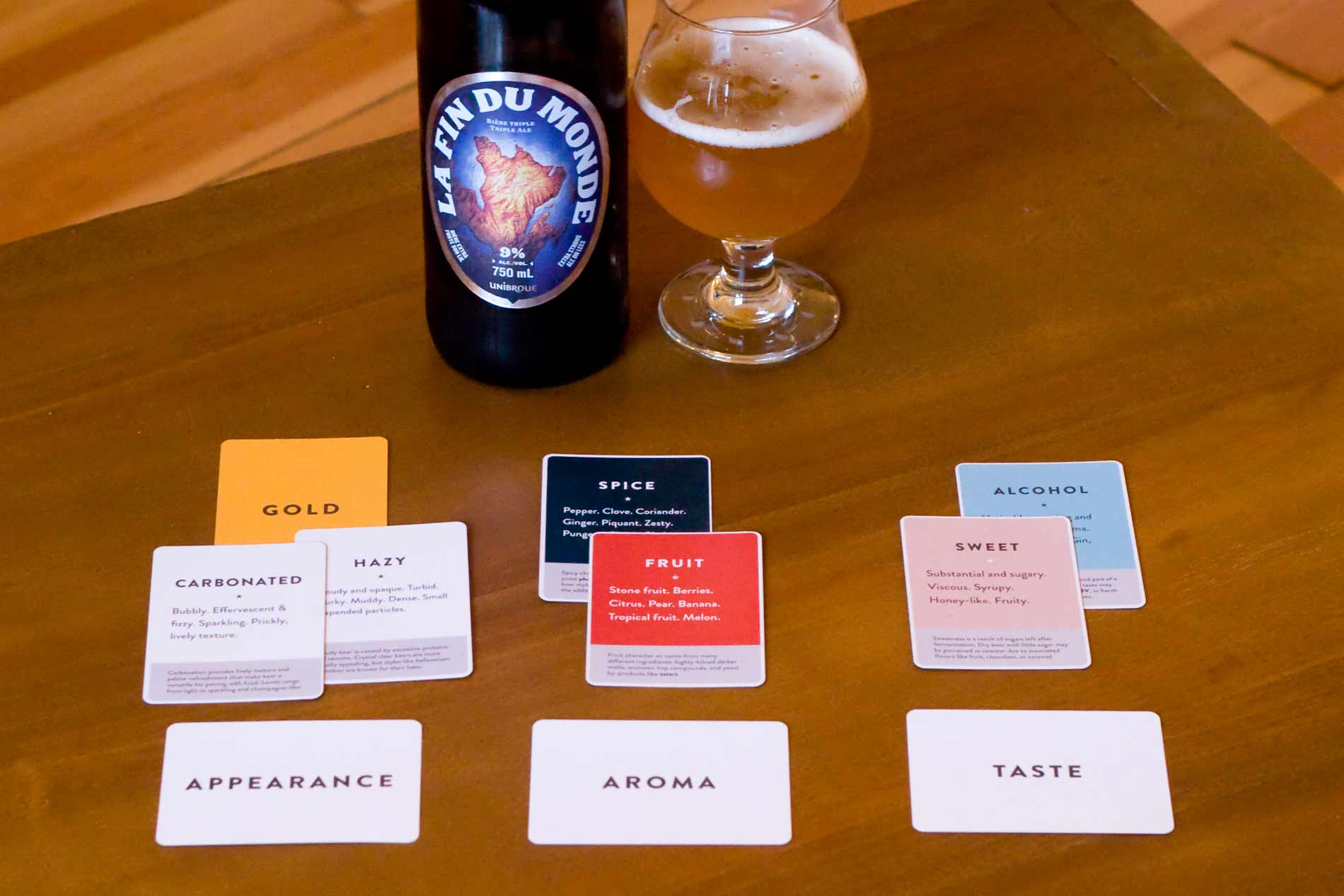 Fin du Monde now with three evaluation cards and some attributes