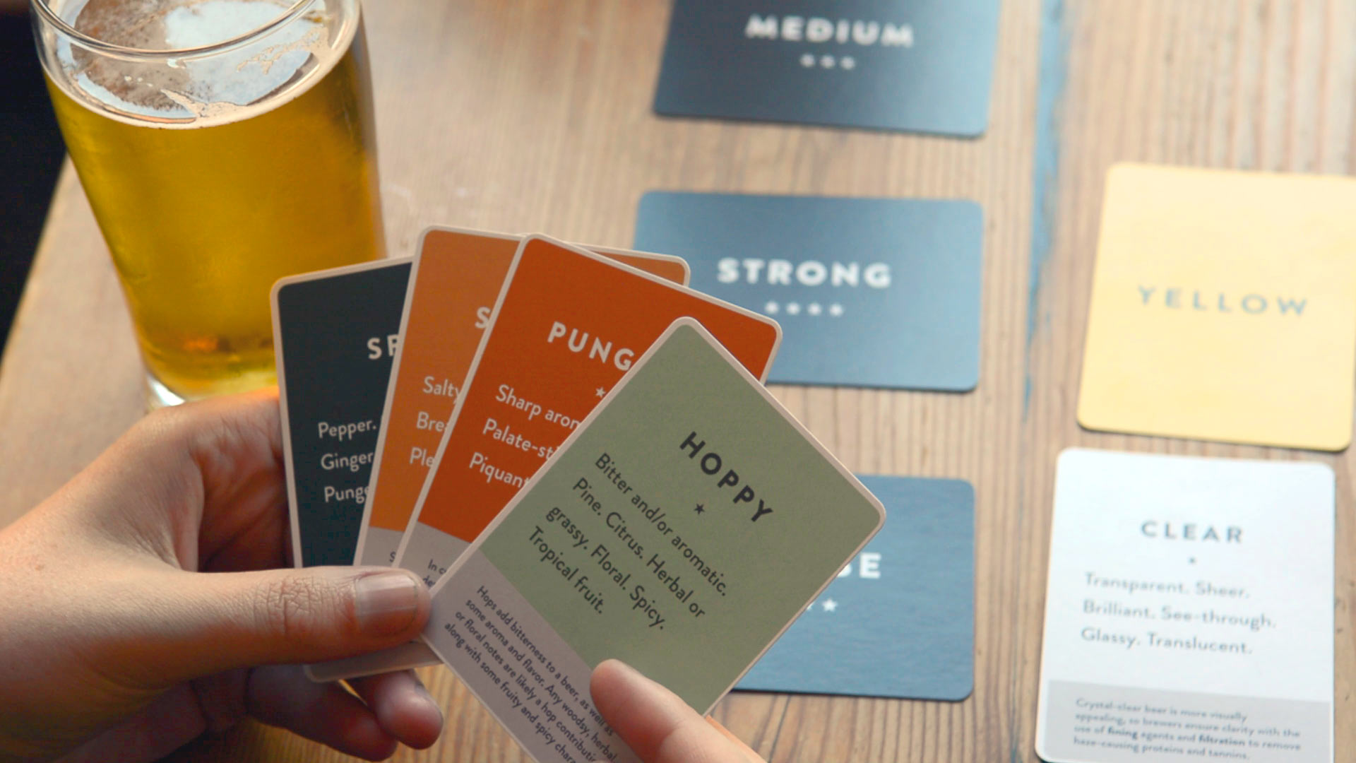 Hand holding Palate Deck Cards